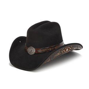 Stampede Hat - The Jasper Men's Black Felt Western